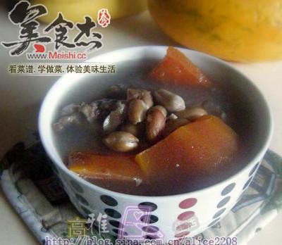 木瓜花生排骨汤的做法