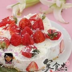白巧克力草莓酸奶慕斯蛋糕