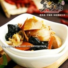 白菜木耳炒肚片