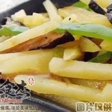 香菇炒薯条