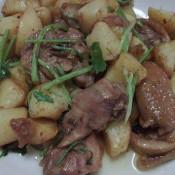 土豆焖沙茶鸡肉