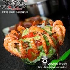 蔬菜基圍蝦沙拉的做法