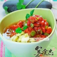 双茄拌菜的做法