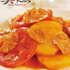 素炒土豆片番茄的做法