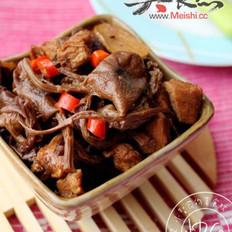 茶树菇烧肉的做法
