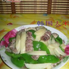 茭白炒虾蛄肉的做法