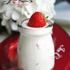 草莓芝士布丁的做法