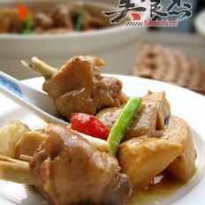 杏鲍菇豉香鸡的做法