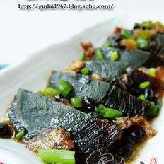 豆豉鲮鱼拌皮蛋的做法