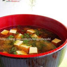 地瓜叶豆腐味噌汤