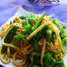 尖椒干豆腐丝