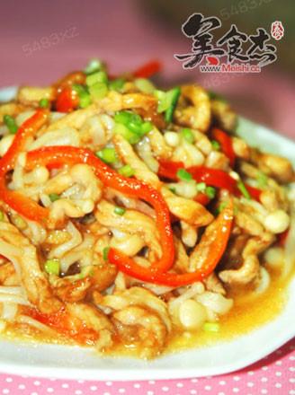 金针菇炒肉丝的做法