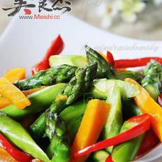 芦笋炒南瓜的做法