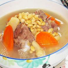 黄豆骨头汤的做法