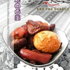 红烧肉卤蛋的做法