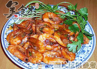 茄汁基围虾的做法