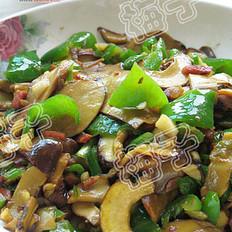火腿炒牛肝菌