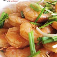 姜蒜爆大虾的做法