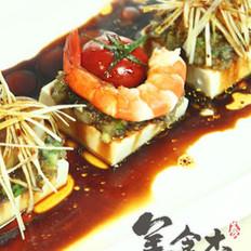 凉拌中式海鲜嫩豆腐的做法