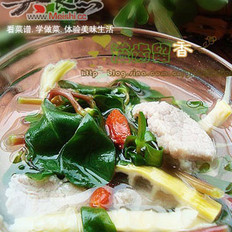 馬齒莧瘦肉筍干湯的做法