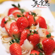 桂花百合草莓的做法