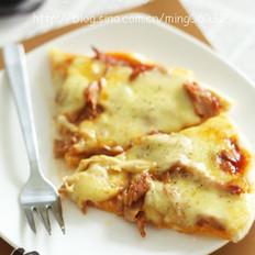 金枪鱼脆底pizza