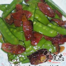 腊肠炒荷兰豆