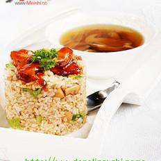 松茸炒饭配松茸功夫汤的做法