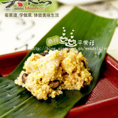 黄米粽香鸡