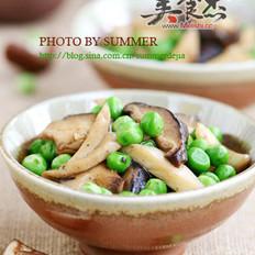 杂菇炒豌豆的做法