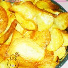 炸薯片撒白糖
