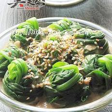 麻酱拌菠菜的做法
