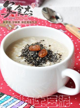 燕麦芝麻粥的做法