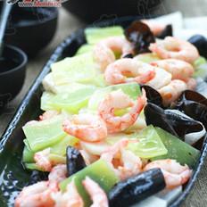 山药青笋炒甜虾