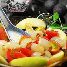 桂花荔枝沙拉的做法