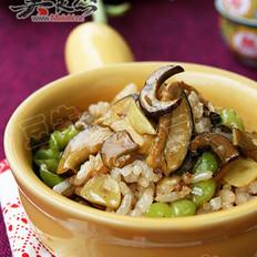 野生菌焖饭的做法