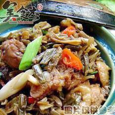 四季豆焖鸡的做法
