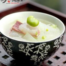 火腿蚕豆冬瓜汤