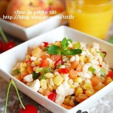 柠汁鸡肉番茄小麦沙拉的做法