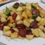 干煸腊肠土豆