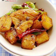 薯香花椒鸡的做法