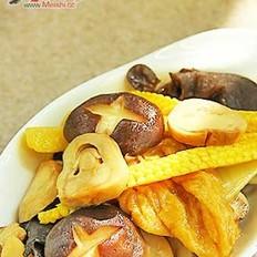 面筋炒杂菇
