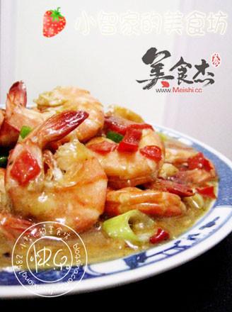 鱼香大虾的做法