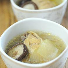 香菇冬瓜鸡汤的做法