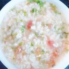 鱼泥青菜番茄粥