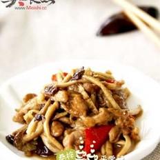 茶树菇爆鸭肉的做法
