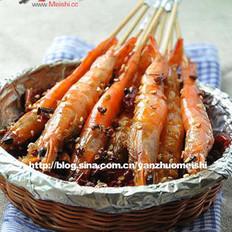 香辣竹签虾的做法