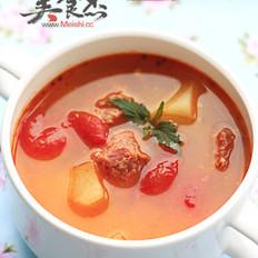 中西合璧牛肉汤的做法