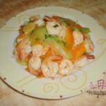 西瓜皮炒虾球的做法