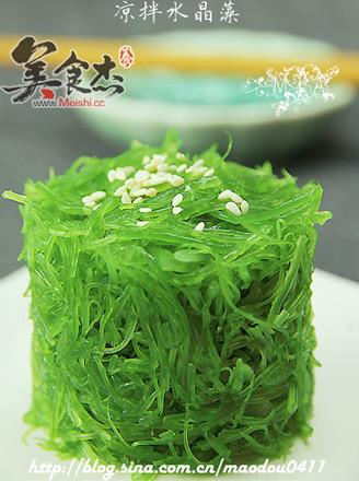 凉拌水晶藻的做法
